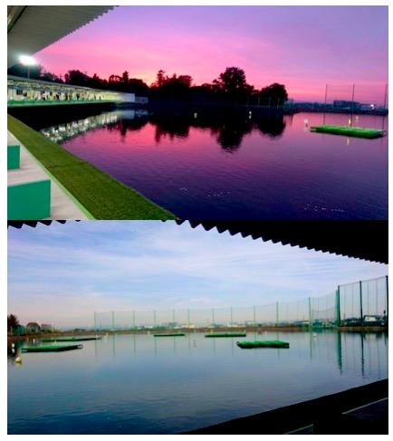 Golf water practice field