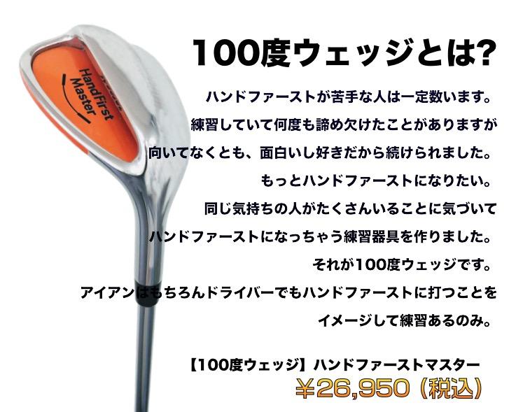 100 degree wedge